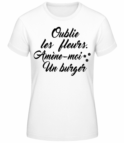 Amène-Moi Un Burger - T-shirt standard Femme - Blanc - Vorn