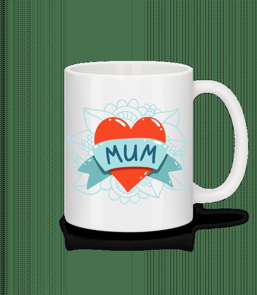 Mum Heart Icon - Mug - White - Vorn