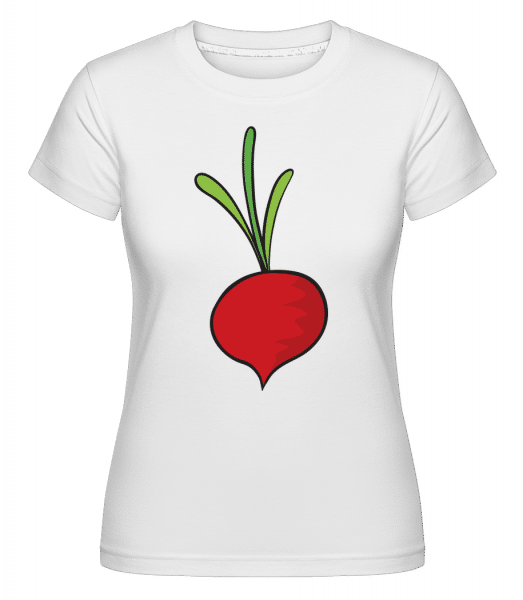 Radish Comic -  Shirtinator Women's T-Shirt - White - Vorn
