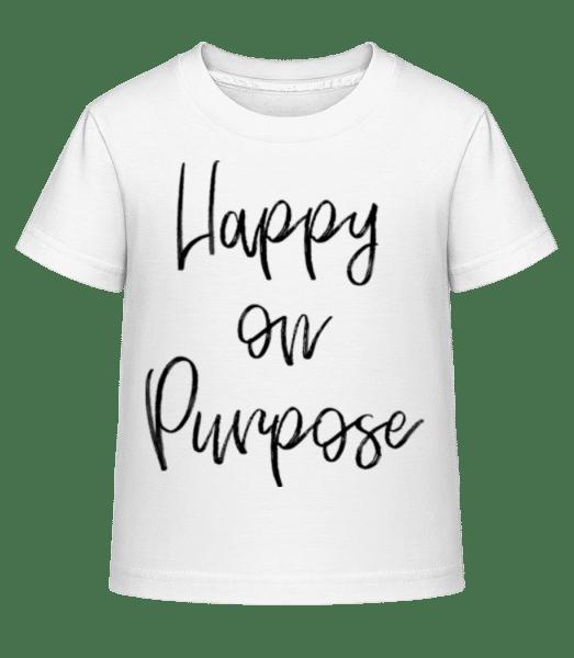 Happy On Purpose - Kid's Shirtinator T-Shirt - White - Vorn