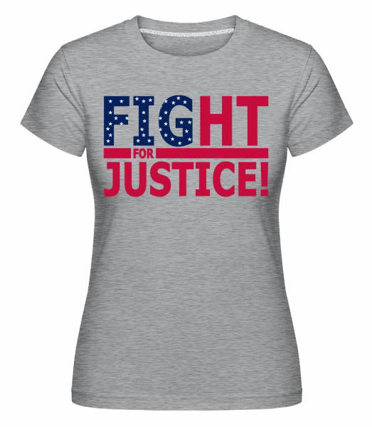 Equal Justice For All -  Shirtinator Women's T-Shirt - Heather grey - Front