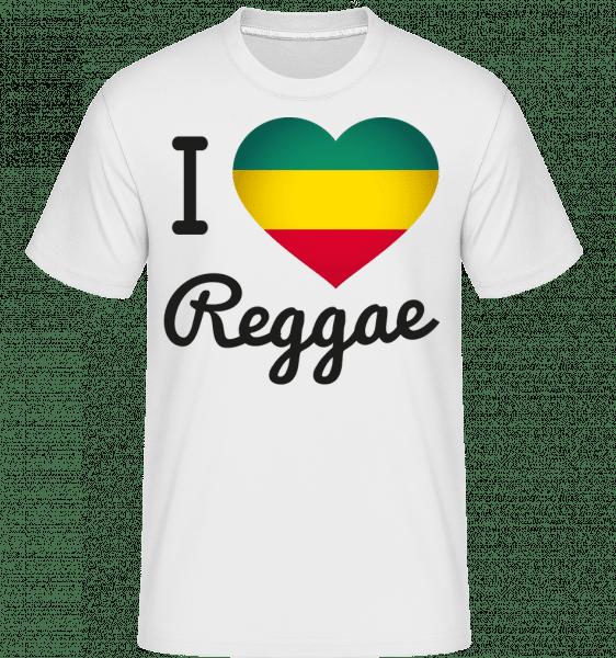 I Love Reggae -  Shirtinator tričko pre pánov - Biela - Predné