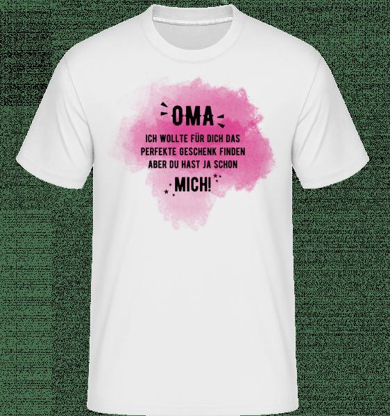 Babička už Ano Me -  Shirtinator tričko pro pány - Bílá - Napřed