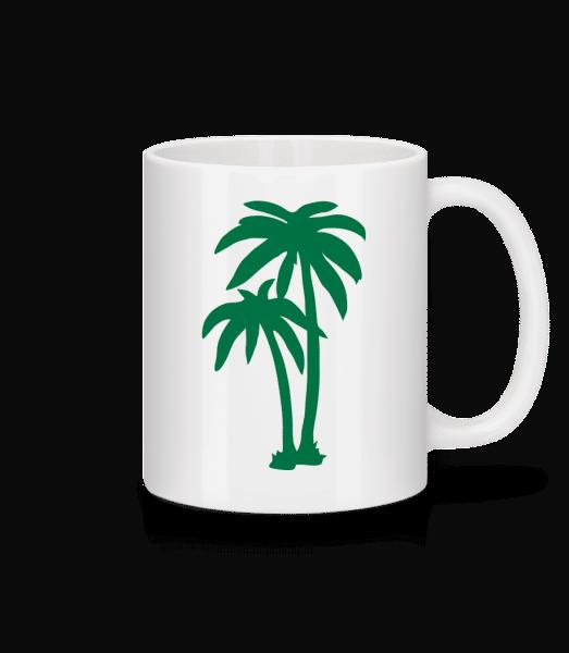 Two Palm Trees - Mug - White - Vorn
