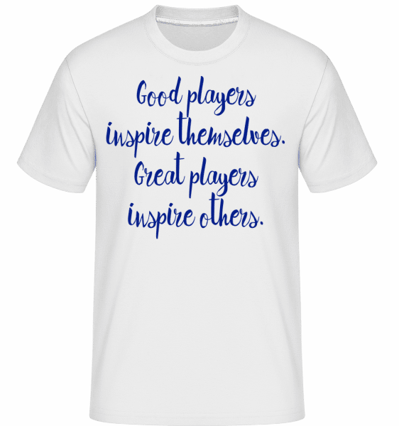 Great Players -  Shirtinator Men's T-Shirt - White - Vorn