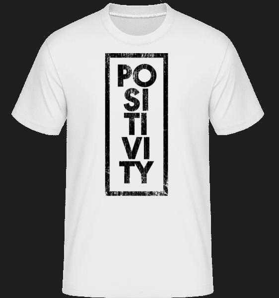 Positivity -  Shirtinator Men's T-Shirt - White - Vorn