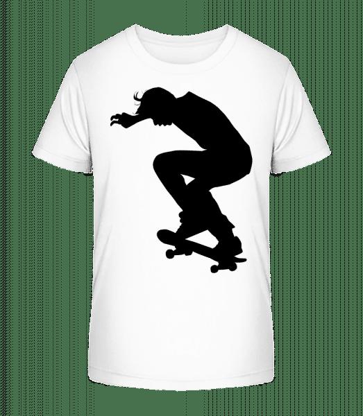 Skater Landing - Kid's Premium Bio T-Shirt - White - Vorn