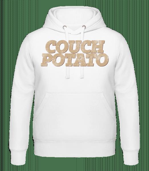 Couch Potato - Hoodie - White - Vorn