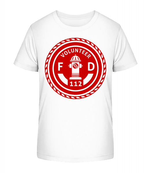 Volunteer FD - Kid's Premium Bio T-Shirt - White - Front