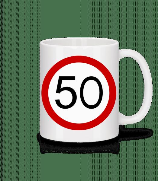 50 Symbol - Mug - White - Vorn