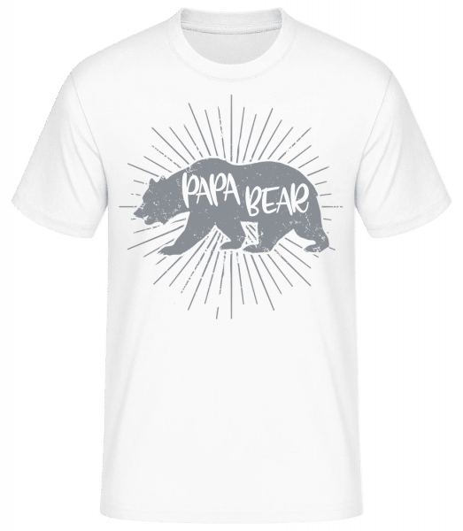 Papa Bear - Basic T-Shirt - Weiß - Vorn