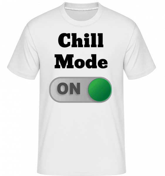 Chill Mode On - Shirtinator Männer T-Shirt - Weiß - Vorn
