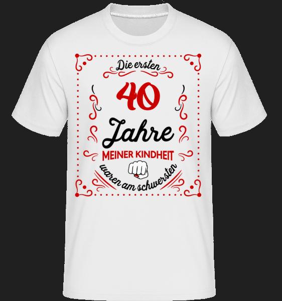 Die Ersten 40 Jahre - Shirtinator Männer T-Shirt - Weiß - Vorn
