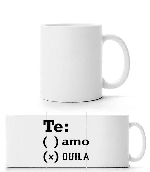 Te Amo Tequila - Mug panorama - Blanc - Devant