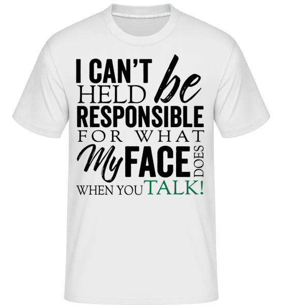 What My Face Does -  Shirtinator Men's T-Shirt - White - Vorn