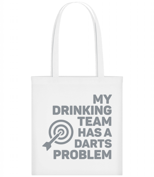 Drinking Darts - Carrier Bag - White - Vorn