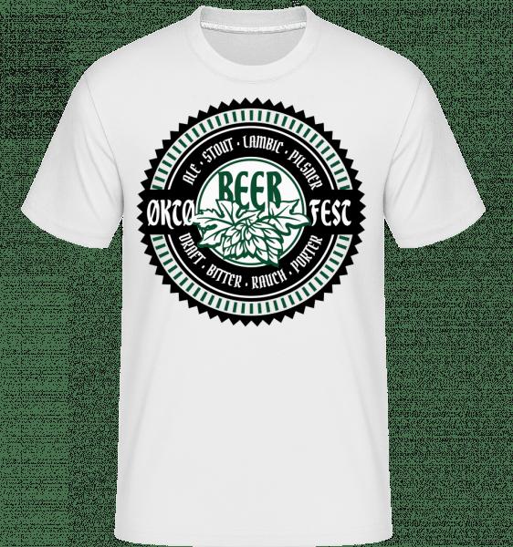 Oktoberfest Beer - Shirtinator Männer T-Shirt - Weiß - Vorn
