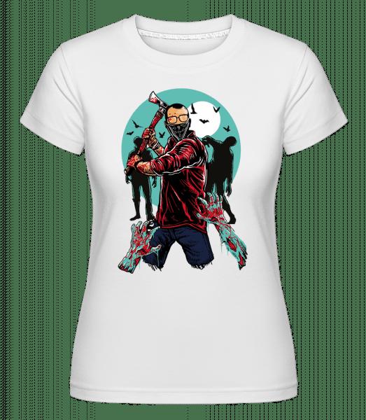 Zombie Killer -  Shirtinator tričko pro dámy - Bílá - Napřed