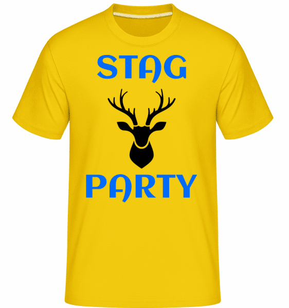 Stag Party -  Shirtinator Men's T-Shirt - Golden yellow - Vorn