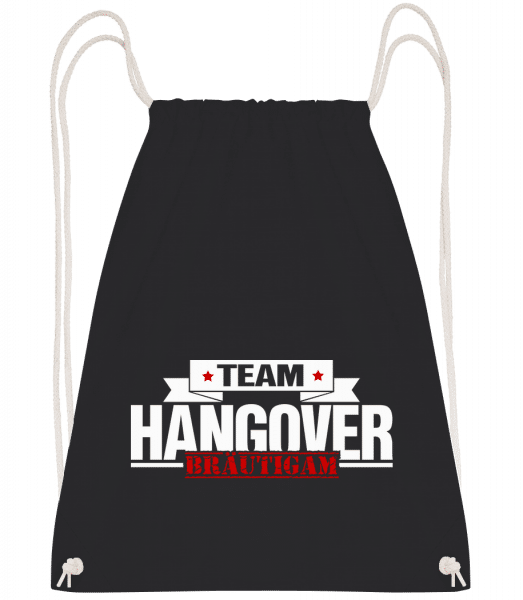 Team Hangover Bräutigam - Turnbeutel - Schwarz - Vorn