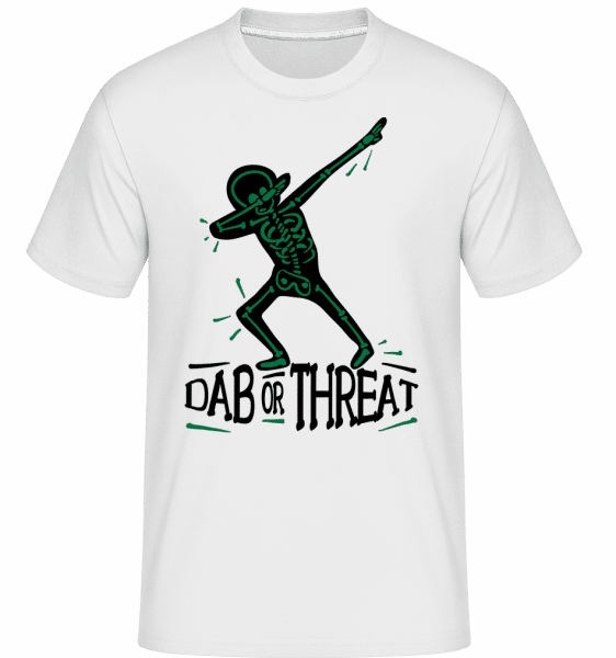 Dab or Threat -  Shirtinator Men's T-Shirt - White - Vorn