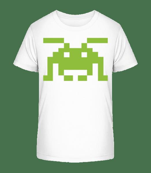 Pixel Monster - Kid's Premium Bio T-Shirt - White - Vorn