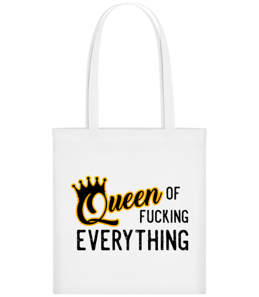 Queen Of Fucking Everything - Carrier Bag - White - Vorn