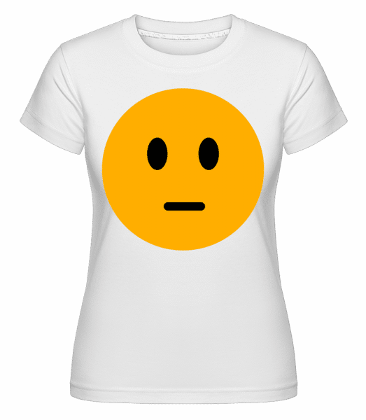 Expressionloss Smiley -  Shirtinator Women's T-Shirt - White - Vorn