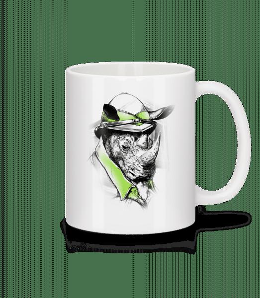 Safari Rhino - Mug - White - Vorn
