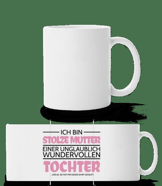 Stolze Mutter Einer Tochter - Panoramatasse - Weiß - Vorn