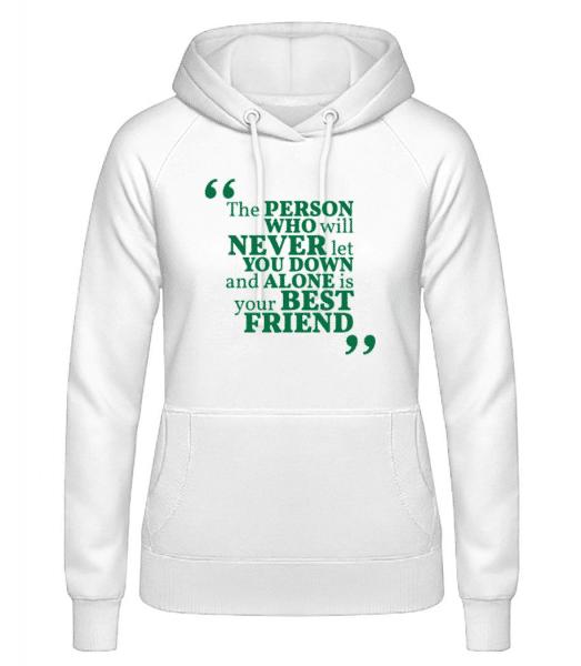 Your Best Friend - Women's Hoodie - White - Front