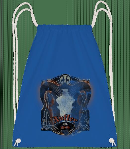 Buffalo Skull Vintage - Drawstring Backpack - Royal blue - Vorn