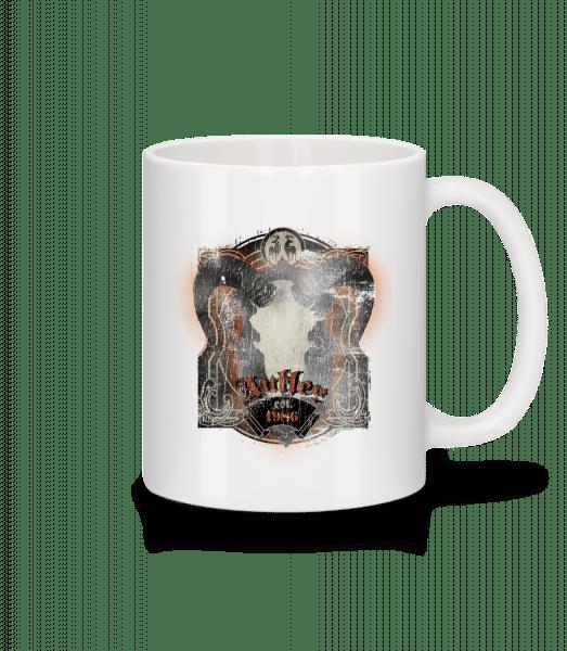 Buffalo Skull Vintage - Mug - White - Front