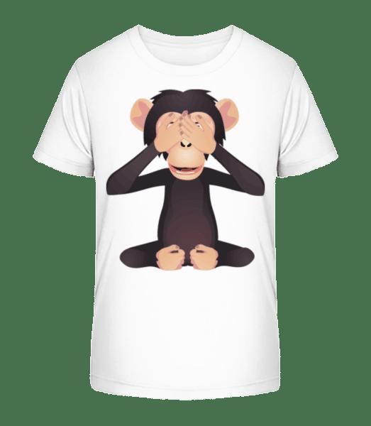 Blind Monkey - Kid's Premium Bio T-Shirt - White - Front