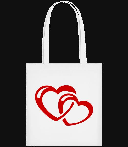 Hearts Icon Red - Taška Carrier - Biela - Predné