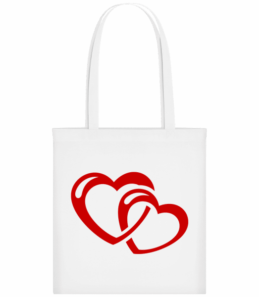 Hearts Icon Red - Sac tote - Blanc - Devant
