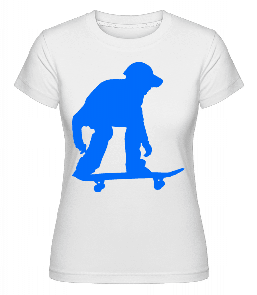 Skater Ready -  Shirtinator Women's T-Shirt - White - Vorn