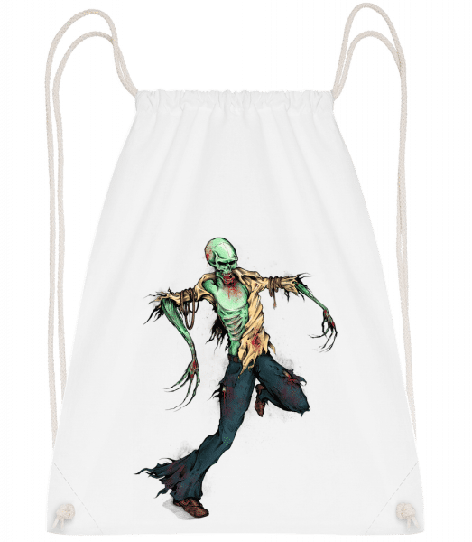 Creepy Zombie - Drawstring Backpack - White - Vorn