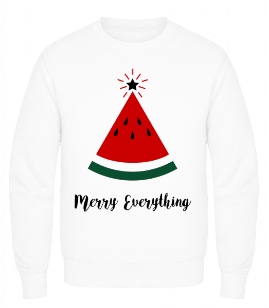 Merry Everything Christmas - Men's Sweatshirt AWDis - White - Vorn