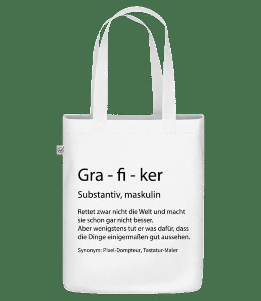 Grafiker Quatsch Duden - Bio Tasche - Weiß - Vorn