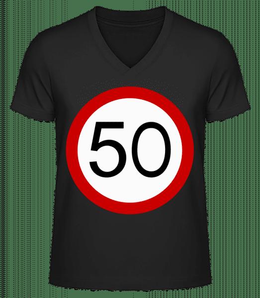 50 Symbol - Men's V-Neck Organic T-Shirt - Black - Vorn