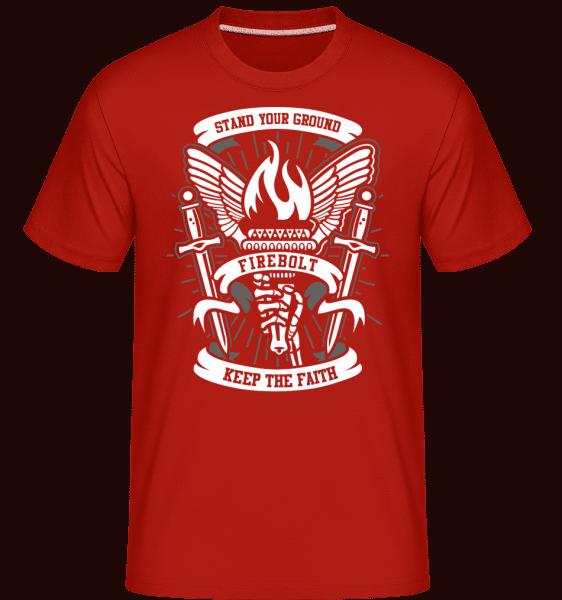Torch -  Shirtinator Men's T-Shirt - Red - Front