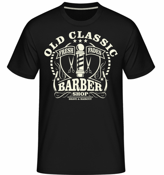 Old Classic Barber -  Shirtinator Men's T-Shirt - Black - Vorn