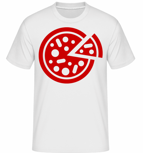 Pizza Comic -  Shirtinator Men's T-Shirt - White - Front