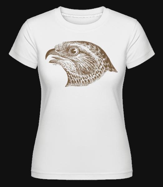 Hawk Head -  Shirtinator Women's T-Shirt - White - Vorn