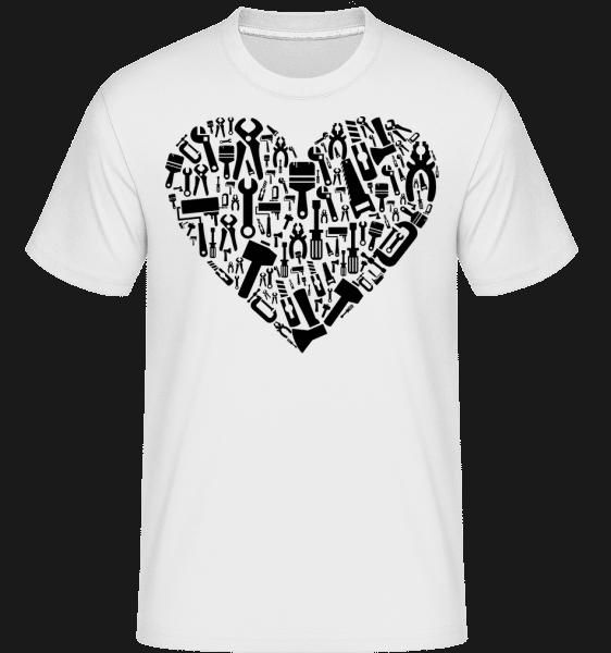 Love DIY Heart -  Shirtinator Men's T-Shirt - White - Vorn