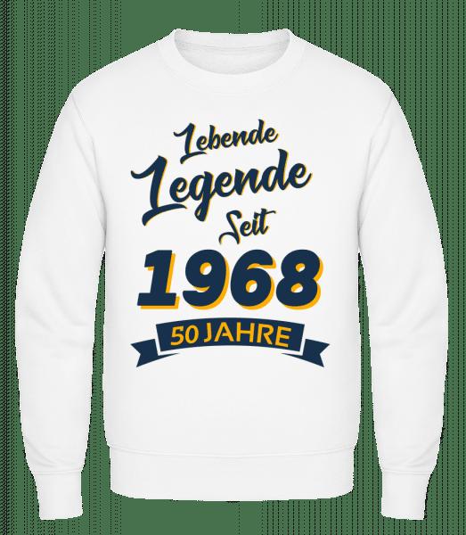 Legende Jahrgang 1968 - Männer Pullover - Weiß - Vorn