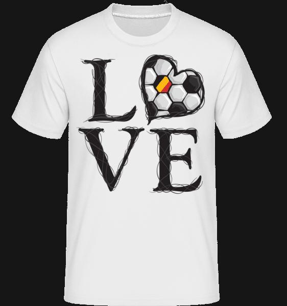 Football Love Belgium -  Shirtinator Men's T-Shirt - White - Vorn
