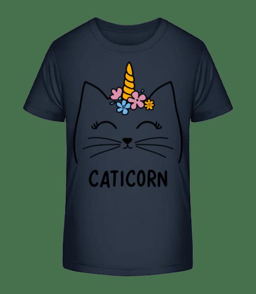 Caticorn - Kid's Premium Bio T-Shirt - Navy - Front