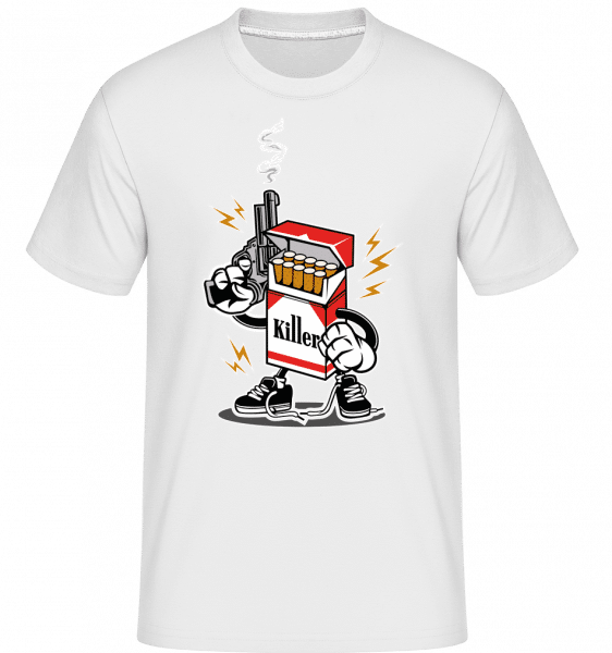 Cigarette Killer -  Shirtinator Men's T-Shirt - White - Front